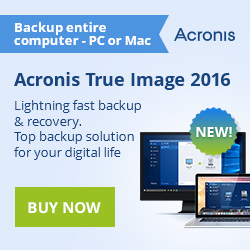 Acronis True Image 2015 with FREE 5GB cloud storage! Buy now for $49.99 only!