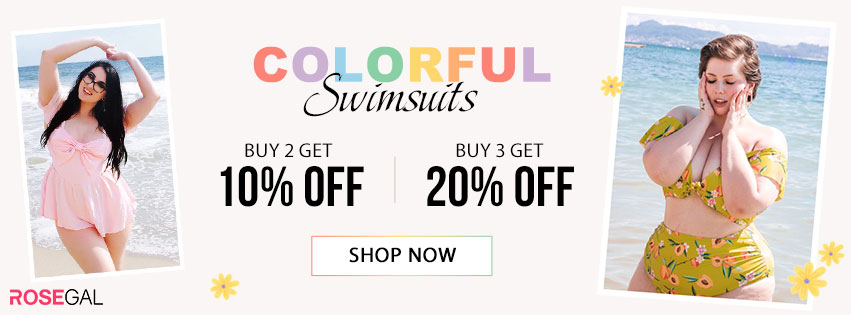Colorful Swimwears--Buy 2 Get 10% Off,Buy 3 Get 20% Off