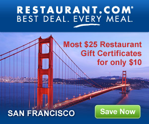 San Francisco - Most $25 Gift Certificates for $10
