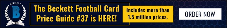 Beckett Football Card Price Guide #37 728*90
