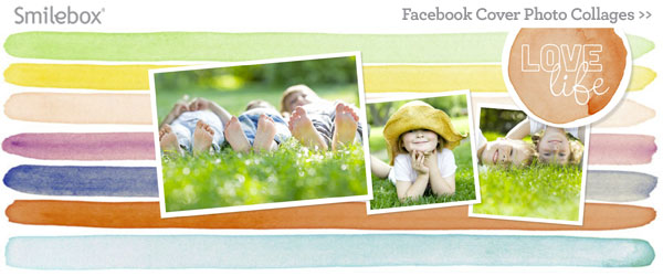 Facebook cover collage templates from Smilebox.