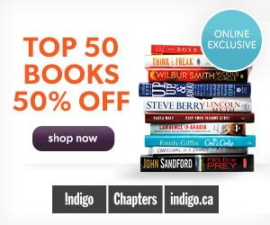 50% Off the Top 50 Books at Indigo.ca!