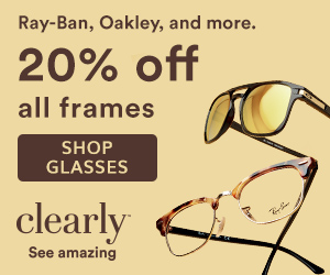 Save 20% off Ray-Ban & Oakley at Clearly! Shop now with code: 20RBO