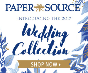 Exclusive Paper Source wedding invitations, RSVPs, save the dates and more.