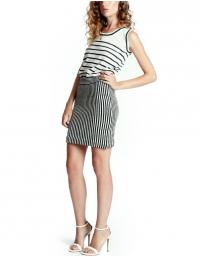 Clara cashmere and silk Britton striped tank top,