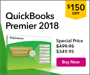 QuickBooks Premier 2016 Software - Enjoy $150 off! Save Time & Get Organized!