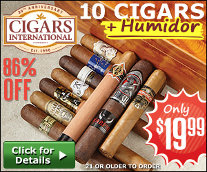 10 Cigars + Humidor - Only $19.99