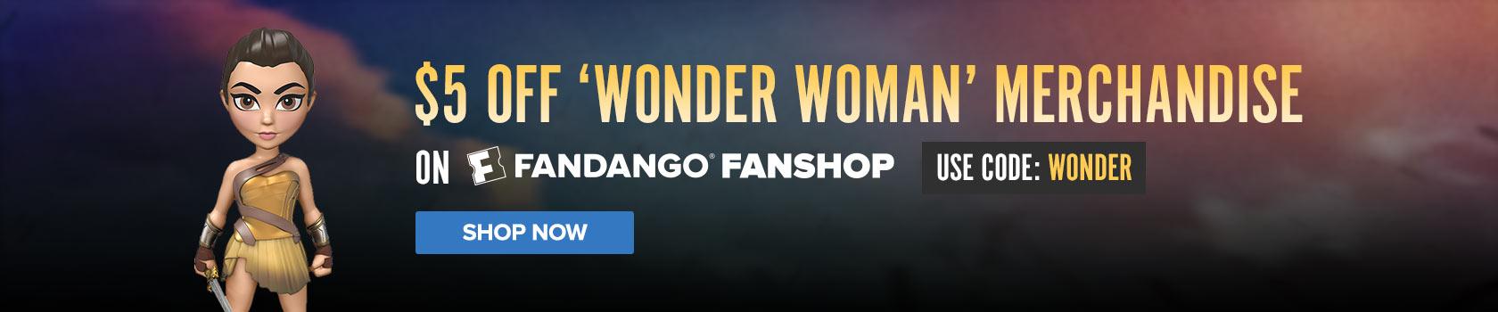 Fandango - FanShop $5 Off Wonder Woman Gear
