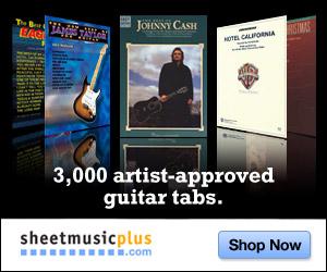Sheet Music Plus - Guitar Tabs