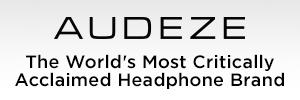 Audeze Headphones Logo on White