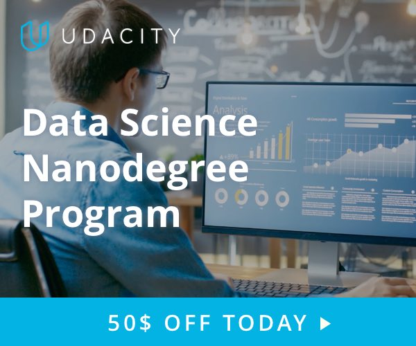Join Udacity Data Scientist program today!