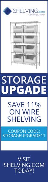 160x600 Versatile Shelving Coupons - Ends Jan. 25th