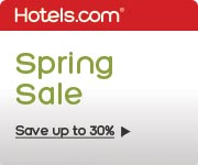 Spring Sale: Save up to 30% on great hotels. Book by 3/31/14, Travel by 4/14/14.
