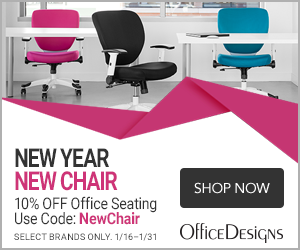 Image for New Year/New Chair save 10% off seating with the code NewChair. Select brands. (Valid 1/16/20 - 1/31/20)