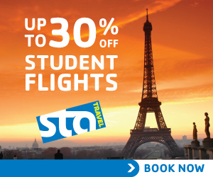 Up to 30% Off Student Flights! Banner_Paris_300x25