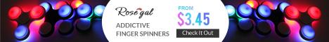 rosegal, finger spinner, finger gyro, toy, coupon, free shipping