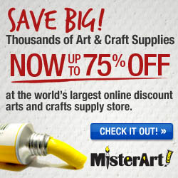 Up to 75% off Art Supplies at MisterArt.com!