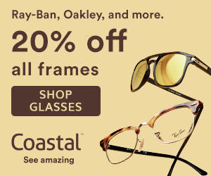 Save 20% off Ray-Ban & Oakley at Coastal! Shop now with code: 20RBO