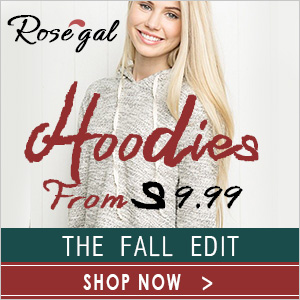 Rosegal Hoodies from $9.99 with Free Shipping Worldwide