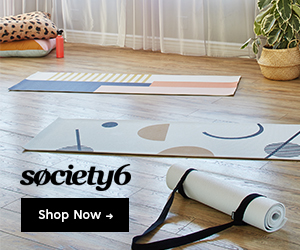 yoga mats from Society6