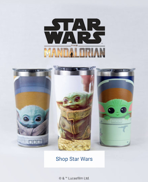 Exclusive 'The Child, Baby Yoda Mandalorian Tumblers only at Tervis