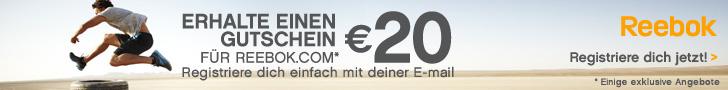 Bei Reebok.com finden Sie ein großes Angebot an Sport- und Basketballschuhen! Geben Sie Ihre E-Mail-Adresse an und Sie erhalten einen 20 EURO-Gutschein geschenkt!