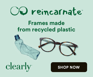Clearly has launched Reincarnate, Frames made from Recycled Plastic.