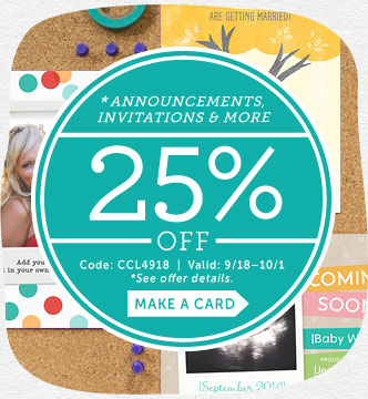 25% off Announcements, Invitat...