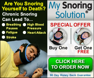 A chin strap can help to improve breathing through the nose and put an end to noisy snoring