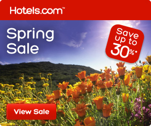 Spring Sale: great deals for your next vacation! Save up to 30%! Book by 4/1, Travel by 4/15