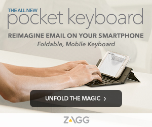 Zagg's Foldable Pocket Keyboard for smartphones - Zagg.com