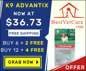 Online K9 Advantix for Dogs at lowest price & Free Shipping on all orders