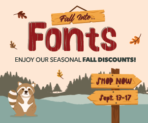 Fall into Fonts