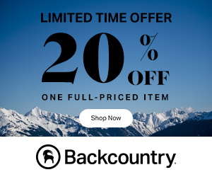 Get 20% Off One Full-Priced Item With Code: TAKE20NOVEMBER at Backcountry.com