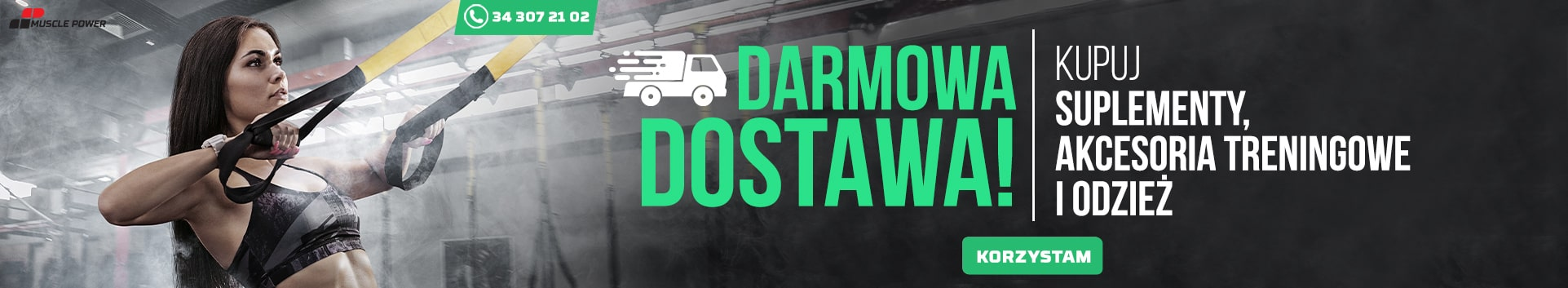 Darmowa dostawa w MusclePower