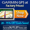 Up to 75% OFF Garmin GPS + Free Same-Day Shipping!