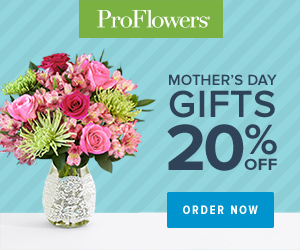 ProFlowers Promo Code - 20% off Mother's Day Flowers & Gifts at ProFlowers (min $29)