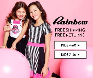 Rainbow Shops Coupon Code Free Shipping - Girls Clothing