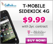 Buy T-Mobile Sidekick 4G @$9.99