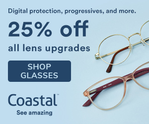 Save 25% off lens upgrades at Coastal!