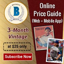 Get 3 Months Vintage Card Online Price guide Subscription for $25