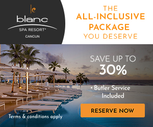 Flights + Free Night. Up to 30% off all-inclusive luxury at Le Blanc Spa Resort. Safe Travels.