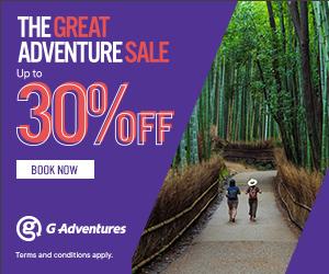 G Adventures Great Adventure Sale
