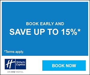 Book early and save up to 15%.