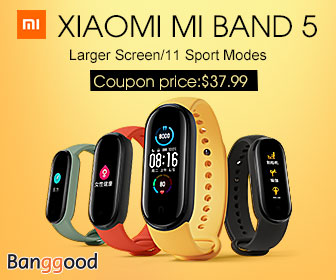 Only $37.99 for Xiaomi Mi Band 5 Prmotion