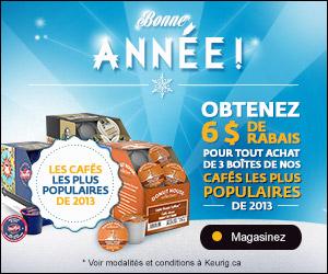 image 7257416 11654784 - Promotion Keurig: Obtenez 6$ de rabais pour tout achat de 3 cafés les plus populaire de 2013!