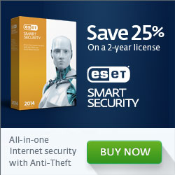 250x250 ESET Smart Security - 25%