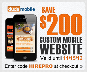Hire a Pro to build a custom mobile website for you!