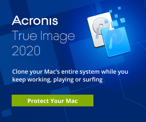 Image for EN Acronis True Image 2020 | Mac Users Launch Banner