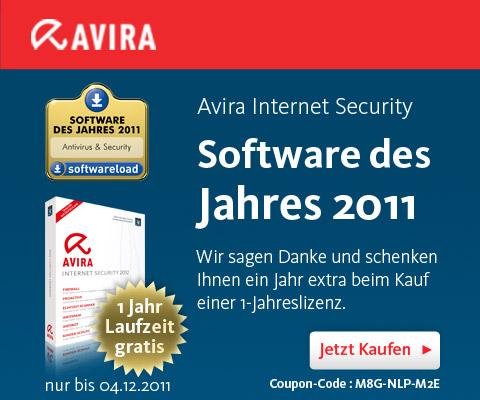 Avira Software des Jahres 2011